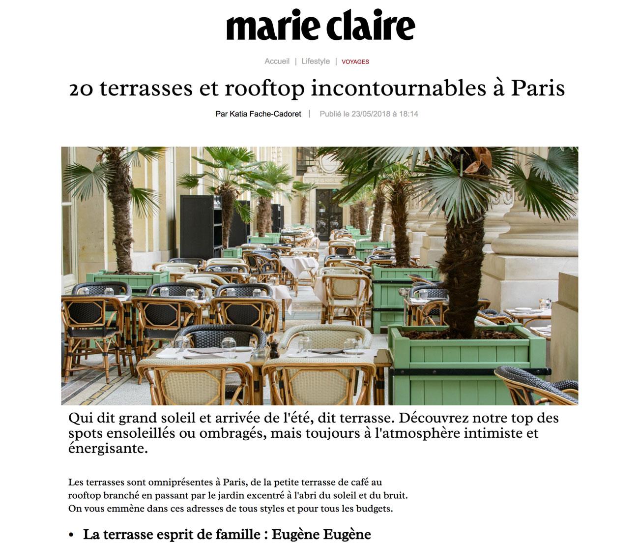20 terrasses et rooftop incontournables à Paris